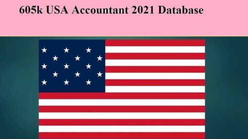 605K Accountant 2021 Latest USA Email  Database Sales Leads list Marketing