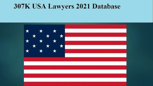 307K USA Lawyers 2021 Email Database Sales Leads list Marketing