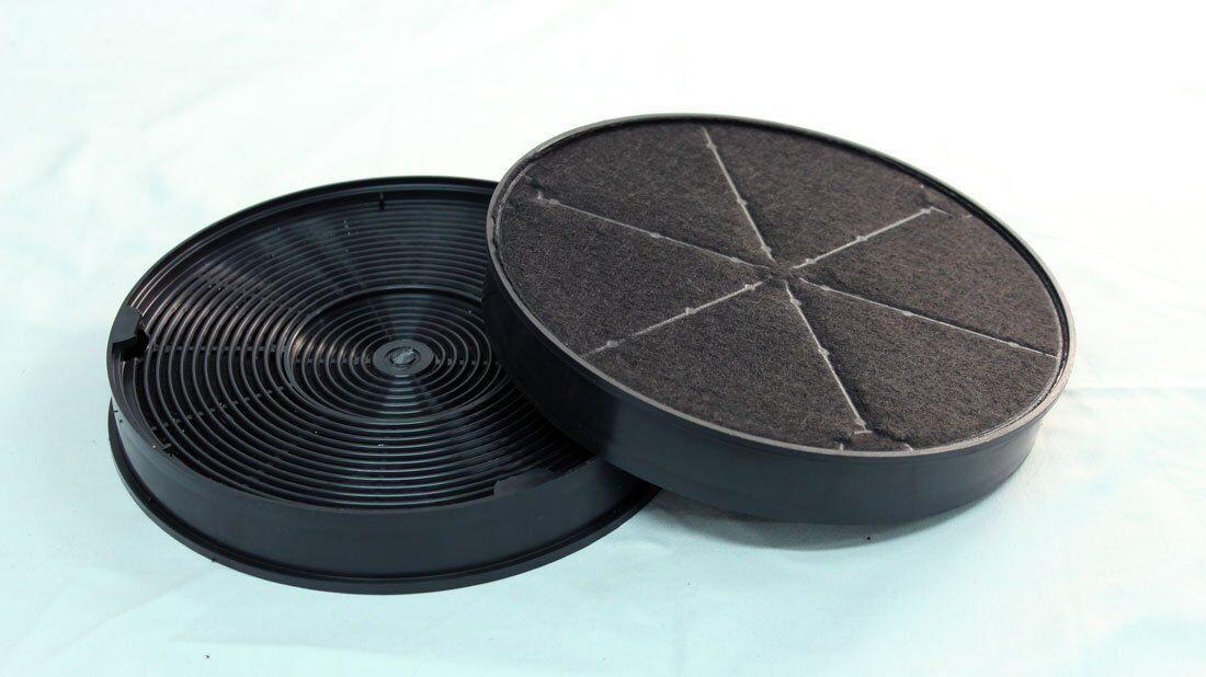 1 Paar Aktiv-Kohlefilter für Miele Umlufthaube DA 186  Zwischenbauhaube 2 Filter