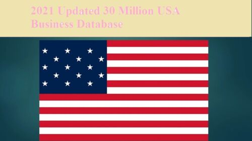 30 Million 2021 Latest USA Business Database Sales Leads Email list Marketing