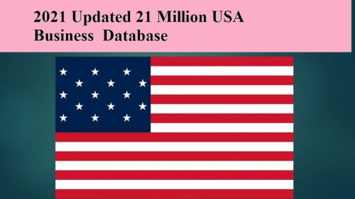 21 Million 2021 Latest USA Business Database Sales Leads Email list Marketing