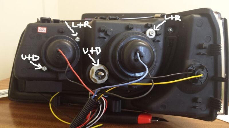 Sonar Headlights Wiring Diagram : How to wire angel eye day running light headlights ebay