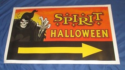 SPIRIT HALLOWEEN Store Exclusive Display Sign GRIM REAPER This Way Sign