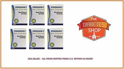 300 PRODIGY NO CODING BLOOD GLUCOSE TEST STRIPS EXP:11/2019 OR BETTER + FREE S&H
