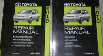 2005 Toyota Echo Servicio Reparación Tienda Manual Juego OEM Fábrica Libros