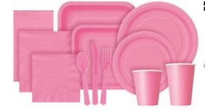 TABLEWARE~PAPER NAPKINS~PLATES~CUPS~PLASTIC CUTLERY~TABLECOVERS~20 COLOURS
