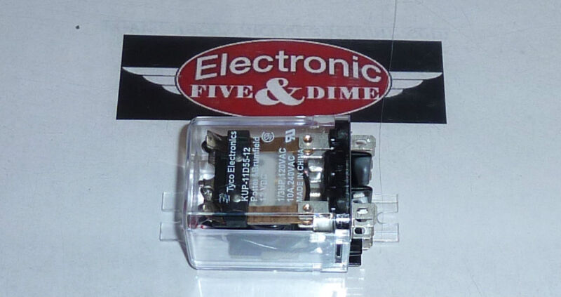 TYCO ELECTRONICS POTTER BRUMFIELD KUP-11D55-12 DPDT Relay 12 Volt DC NEW