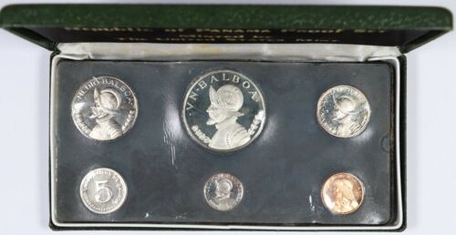 1973 Panama Proof Set 6 Coins BU Unc w/ Original Box