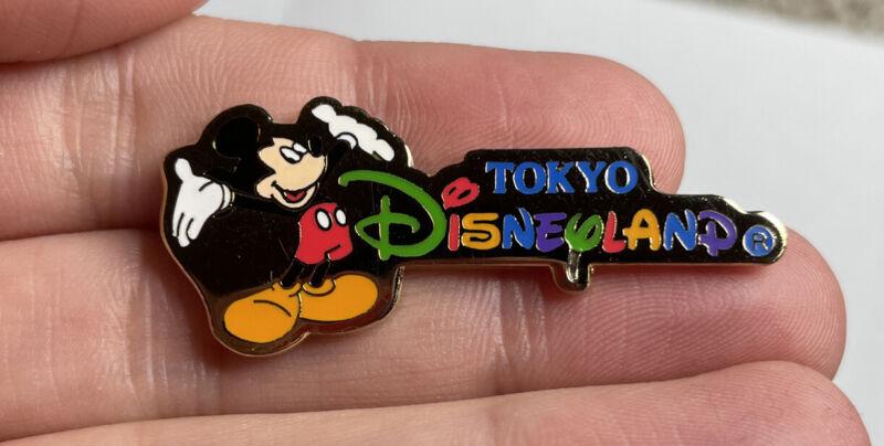 DISNEY TOKYO DISNEYLAND LOGO MICKEY MOUSE PIN 504