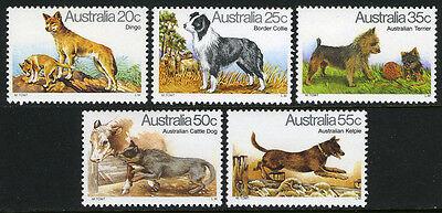 AUSTRALIA 727-731, MNH. DOGS:DINGO,COLLIE,TERRIER,CATTLE DOG,KELPIE, 1980