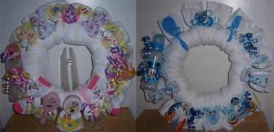 Baby Shower Mickey Mouse or Minnie Mouse Diaper Wreath