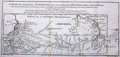 Antique map, Cours du Maragnon ou de la grande riviere des Amazones