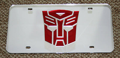 Mirrored Acrylic License Plate - AUTOBOT Transformers Acrylic Mirror License Plate Tag