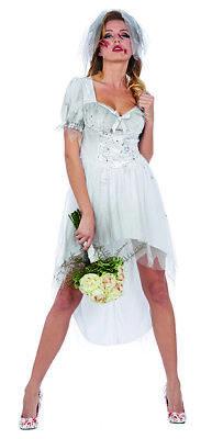 Bloody Bride Damen Kostüm blutige Braut Kleid Karneval Halloween