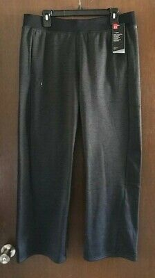 Womens Under Armour Open Sweat Pant Medium Large Gray 1320909 019 NWT -