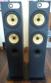 B&W 684 Floor Standing Speakers.... Walnut... Beautiful Sound.