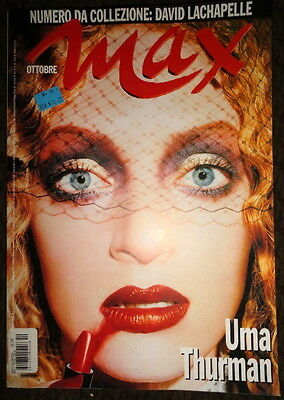 Vtg Italian MAX 1997 David Lachapelle Uma Thurman David Bowie Smashing Pumpkins