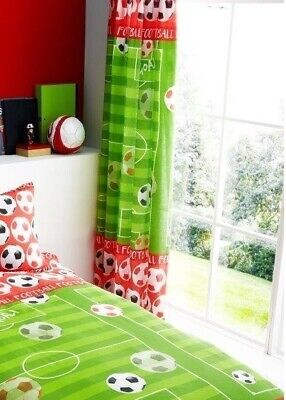 Football Shoot Goal Kids Boys Bedroom Curtains Set 66