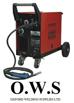 Sealey Mightymig170 170amp Gas No Gas Mighty Mig Welder Extras