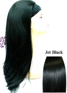Ladies-Half-Wig-3-4-Wig-Fall-Clip-In-Hair-Extensions-Many-Colours-Style