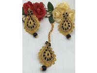 Punjabi Earring and Tikka Set indian pakistani party wear