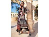 Pakistani Cotton Lawn Suit Black Large