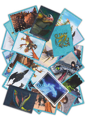 Dragons 3 Das Buch der Drachen 50 Sammelsticker Mix keine Doppelten Holosticker