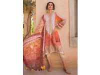 Pakistani Cotton Lawn Suit XL Yellow