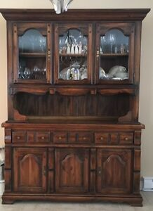 Table, chairs, and China cabinet set for sale