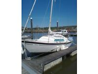 Hurley 24/70 Sailing Yacht. Built 1974 GRP Construction with 8HP Yanmar inboard diesel engine