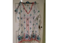 New Look Beach Cover Up with Embroidery/Sequins - Size 10