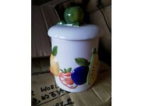 Ceramic 3D Jar with Fruit Pattern