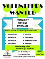 Volunteers wanted at Community Clothing Assistance