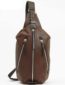 Coach Mens Thompson Perforated Leather Sling BAG Leather ...