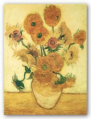 ART PRINT Vase with Sunflowers Vincent Van (Vincent Van Gogh Vase)