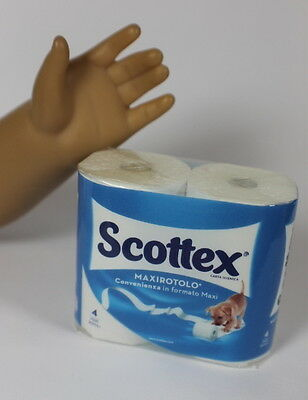 "Lovvbugg Scottex TP for 18"" American Girl Doll House Groceries Accessory"