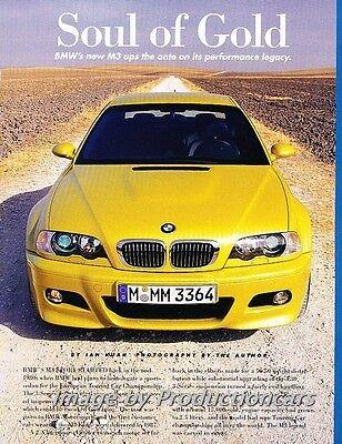 2001 BMW M3 Coupe Road Test Original Car Review Print Article J696 (Bmw M3 Coupe Review)