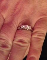 White Gold .50ct Engagment Ring Moncton New Brunswick Preview