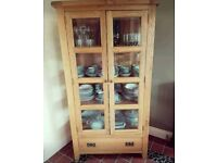 Vancouver Solid Oak Glazed Display Cabinet