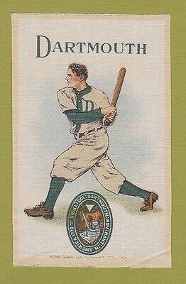 c1910s S22 tobacco silk DARTMOUTH COLLEGE Baseballl Batter  nice!!