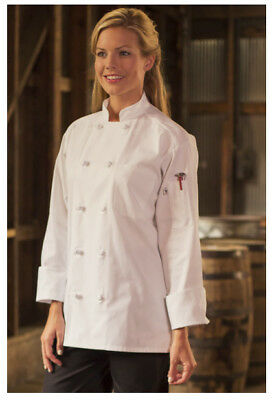 Chefs Coat Knotted Cotton Buttons (White Chef Coats, Knot Buttons, 65/35 Poly Cotton, Long Sleeves, Size: 4XL - 403 )