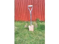 Garden works outdoor digging spade