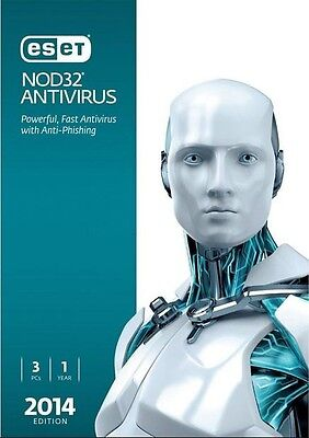 Eset Nod32 Antivirus 2014 3 Users With 1 Year Updates