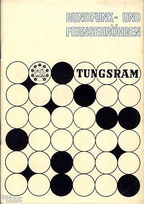 Tungsram Katalog Rundfunk und Fernsehröhren Röhren um 1980