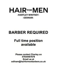BARBER REQUIRED @ HAIR FOR MEN