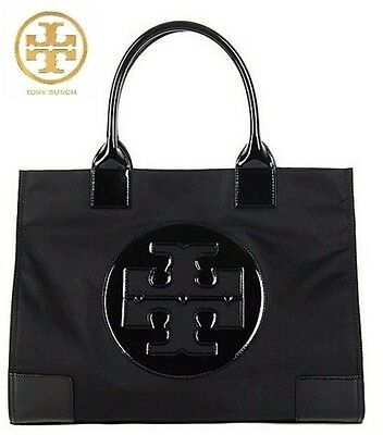 Brand NEW Authentic Tory Burch Ella Nylon Tote Bag BLACK Large
