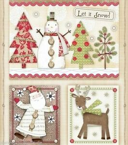 holiday stitches panel patchworkstoffe stoffe weihnachten. Black Bedroom Furniture Sets. Home Design Ideas