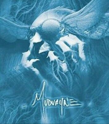 MUDVAYNE WHITE BLACKLIGHT LARGE 8x8 MUSIC POSTER STICKER
