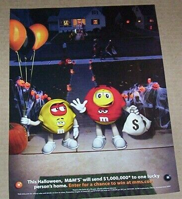 2009 print ad page - M&M's candy Halloween Trick or Treat candies Advertising](Halloween M&m Treats)