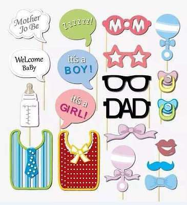 Twins Baby Shower Gender Reveal Party Photo Booth Props, Attached, USA  (Twins Party Supplies)
